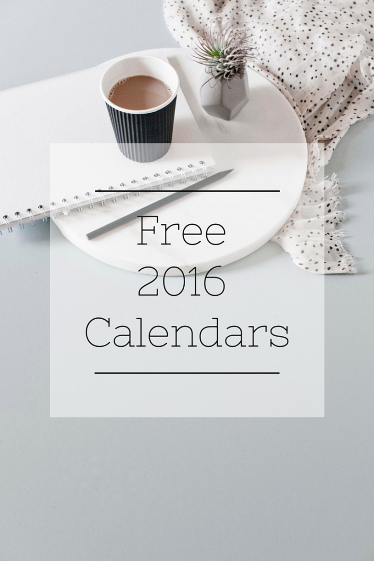 12 Free Calendars for 2016