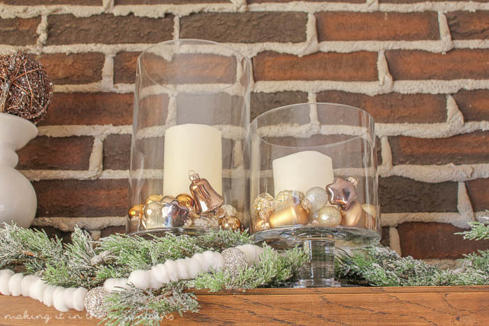 One hurricane vase - three simple ways to fill it for the holidays.