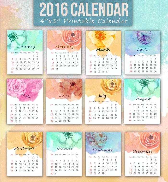 Free 2016 Calendar
