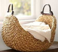 Wood Handle Basket