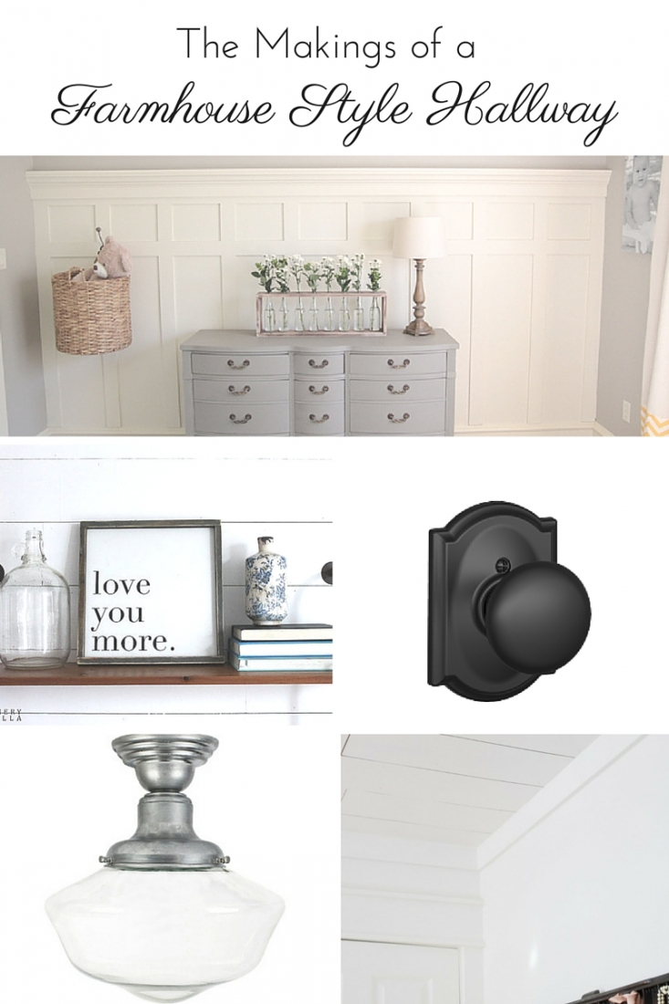 The Makings of a Farmhouse Style Hallway: how we're planning to give our boring old hallway some rustic charm with a farmhouse style hallway makeover | www.makingitinthemountains.com
