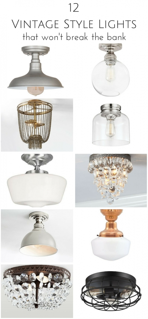 12 Vintage Style Hallway Lights that Won't Break the Bank | www.makingitinthemountains.com