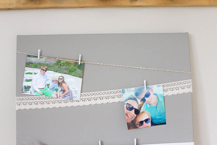 Monthly Diy Challenge Vintage Lace Canvas Memory Board Making It