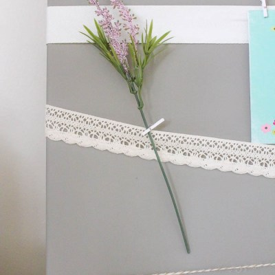 Monthly DIY Challenge: Vintage Lace Canvas Memory Board