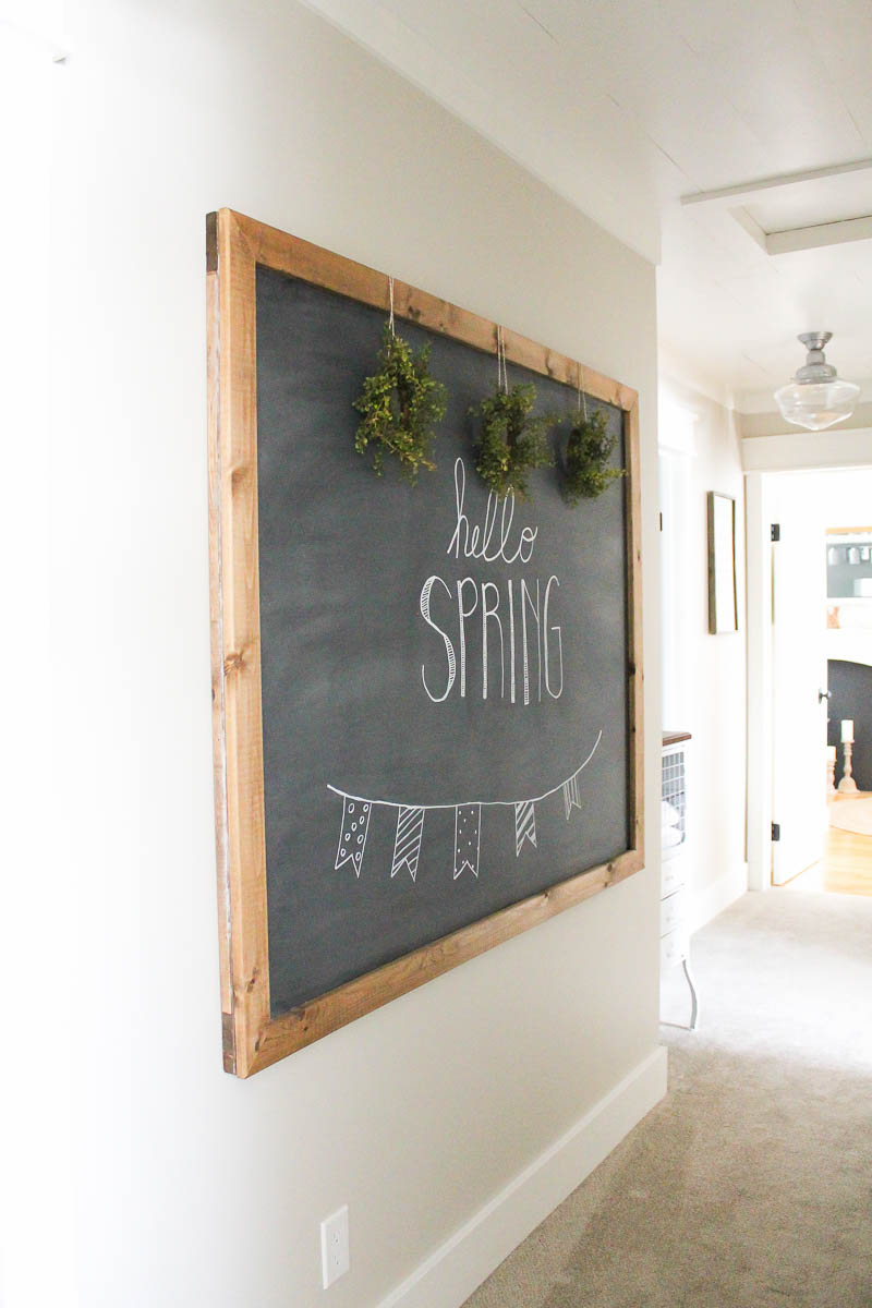 how to make your own large diy chalkboard making it in the mountains. Black Bedroom Furniture Sets. Home Design Ideas