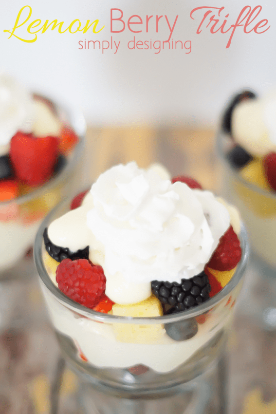 Lemon Berry Triffle