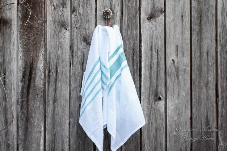 DIY Farmhouse Tea Towels