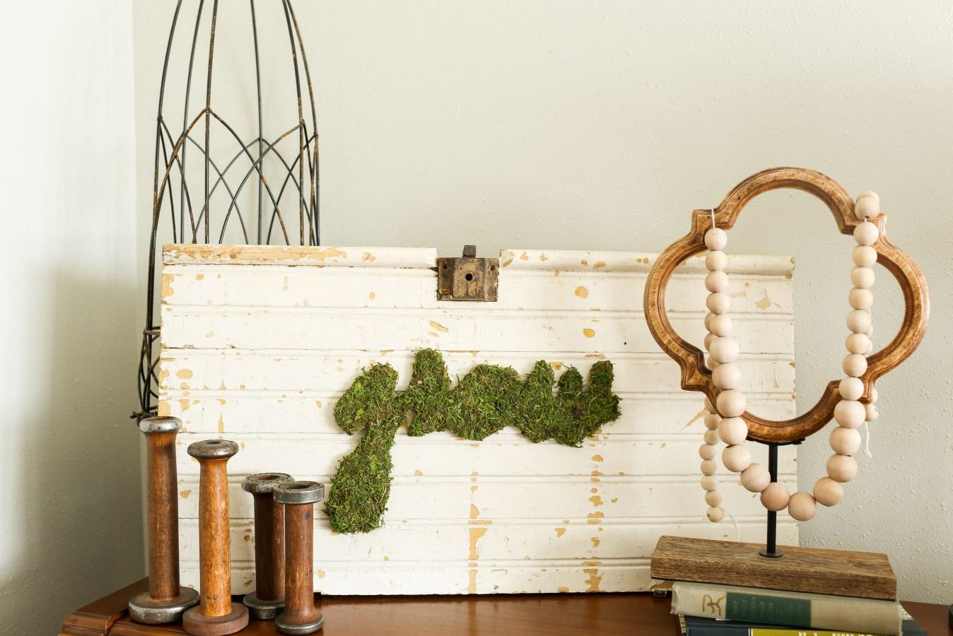 DIY Moss Art