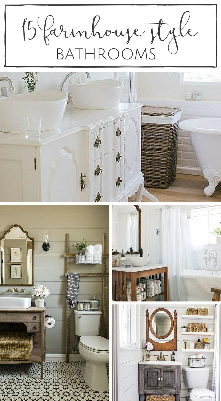15 Farmhouse Style Bathrooms full of Rustic Charm - making ... on Rustic Farmhouse Bathroom  id=79441
