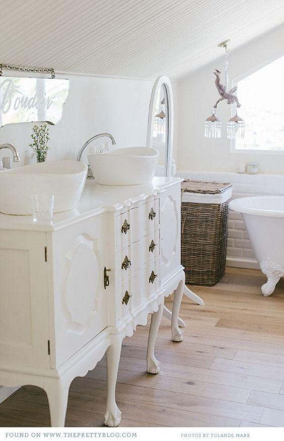 15 Farmhouse Style Bathrooms full of Rustic Charm - Making ... on Rustic Farmhouse Bathroom  id=78365