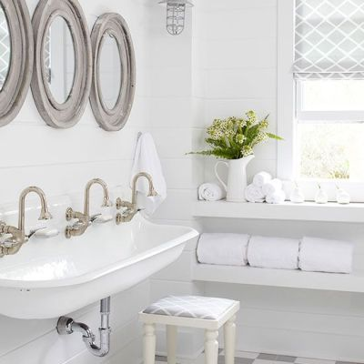 One Room Challenge {Week Two}: Farmhouse Style Bathroom Design