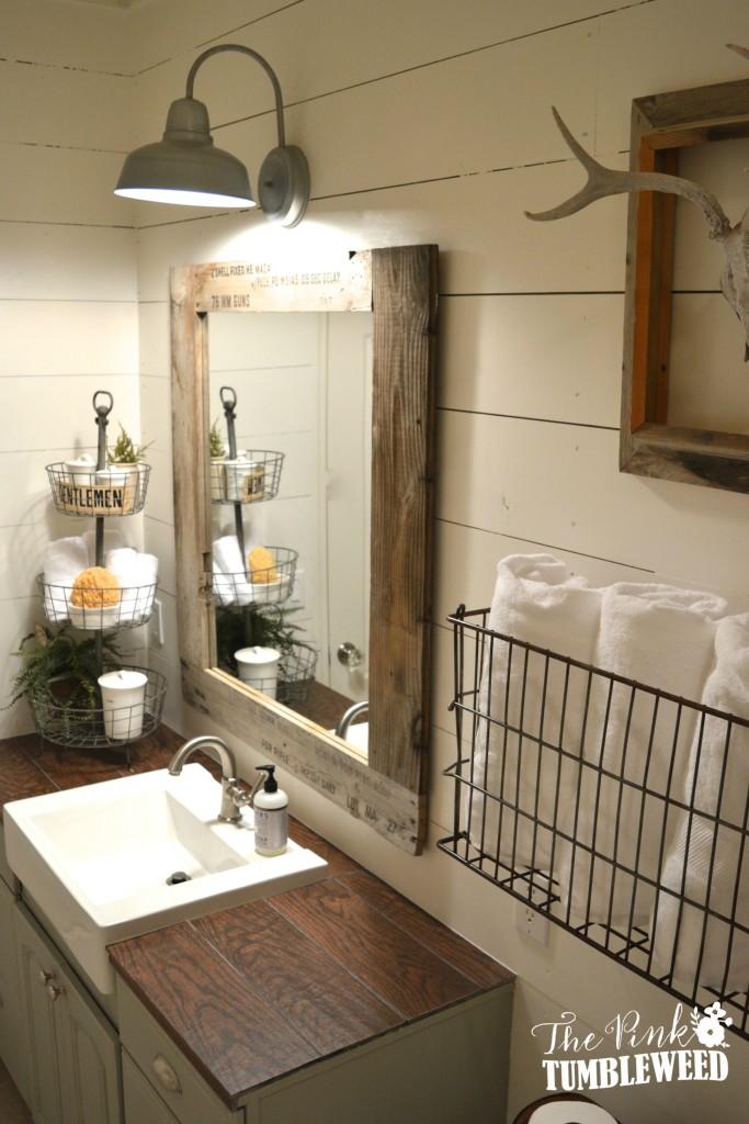 15 Farmhouse Style Bathrooms full of Rustic Charm - making ... on Farmhouse Bathroom  id=28399