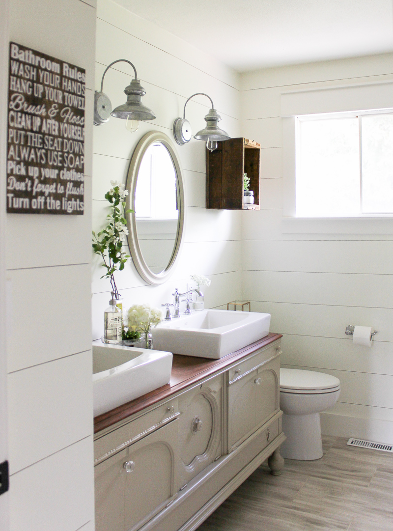One Room Challenge Week Six A Farmhouse Style Bathroom