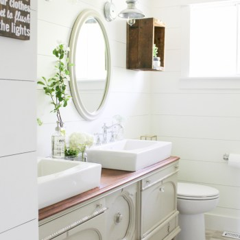 Bathroom Vanities Vintage Style how to transform a vintage buffet into a diy bathroom vanity