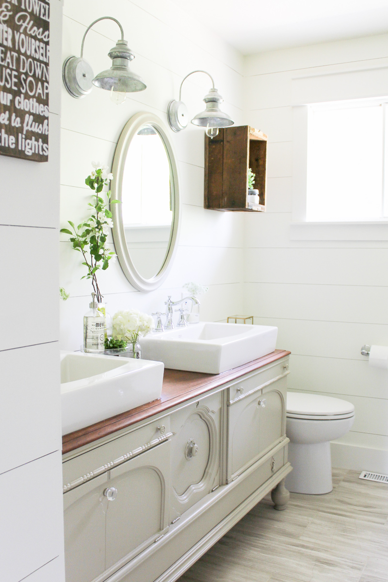 One Room Challenge A Farmhouse Style Bathroom Reveal