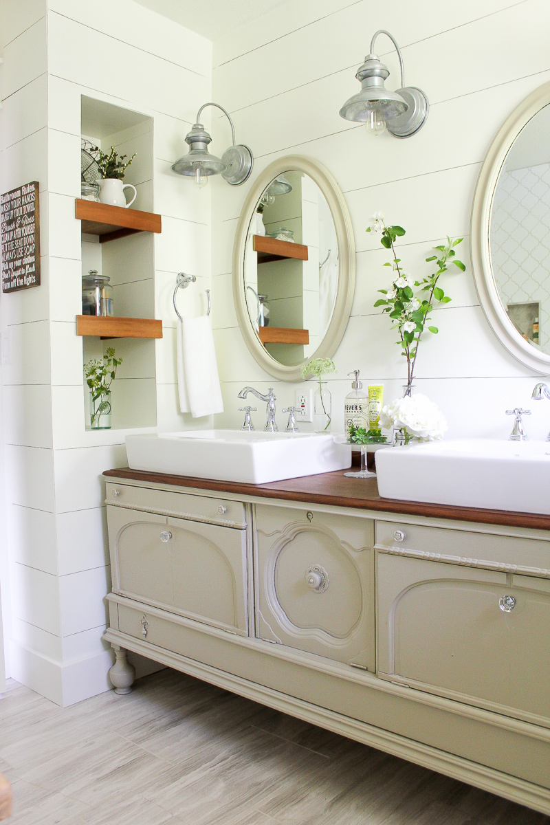 How To Transform A Vintage Buffet Into A Diy Bathroom Vanity