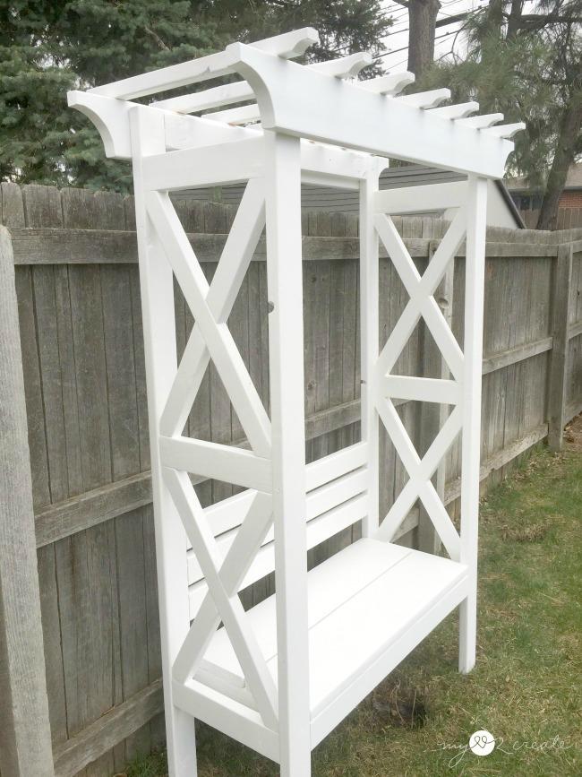 DIY Arbor Bench