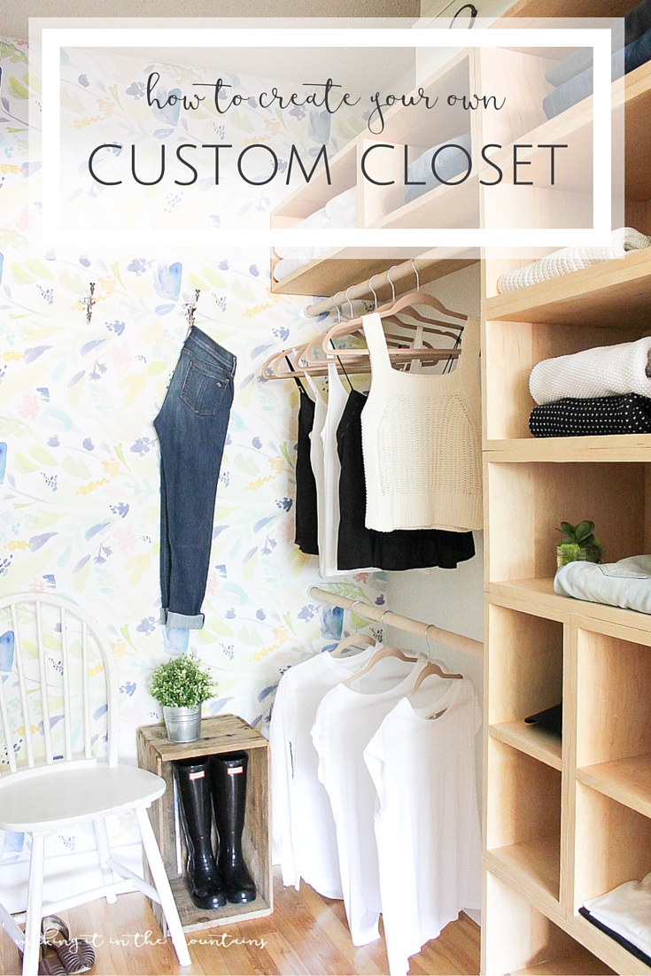 You won't believe how simple this dreamy DIY Master Bedroom Closet was to design and create! And, with a place for everything, it's the perfect way to organize it all!