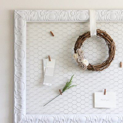 DIY Farmhouse Style Memo Board