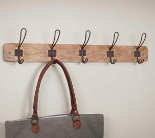 Wood & Wire Coat Rack