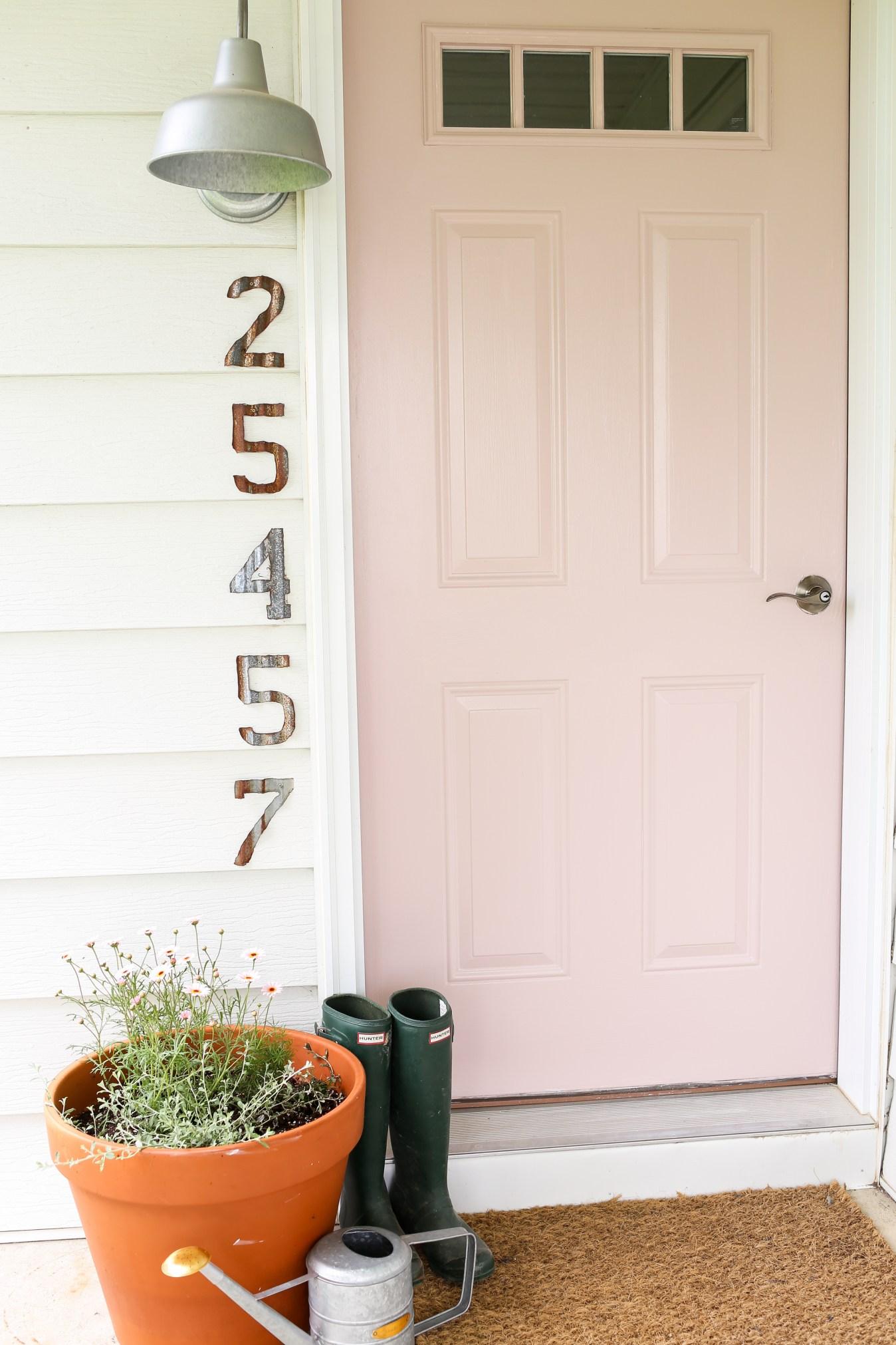 Blush front door