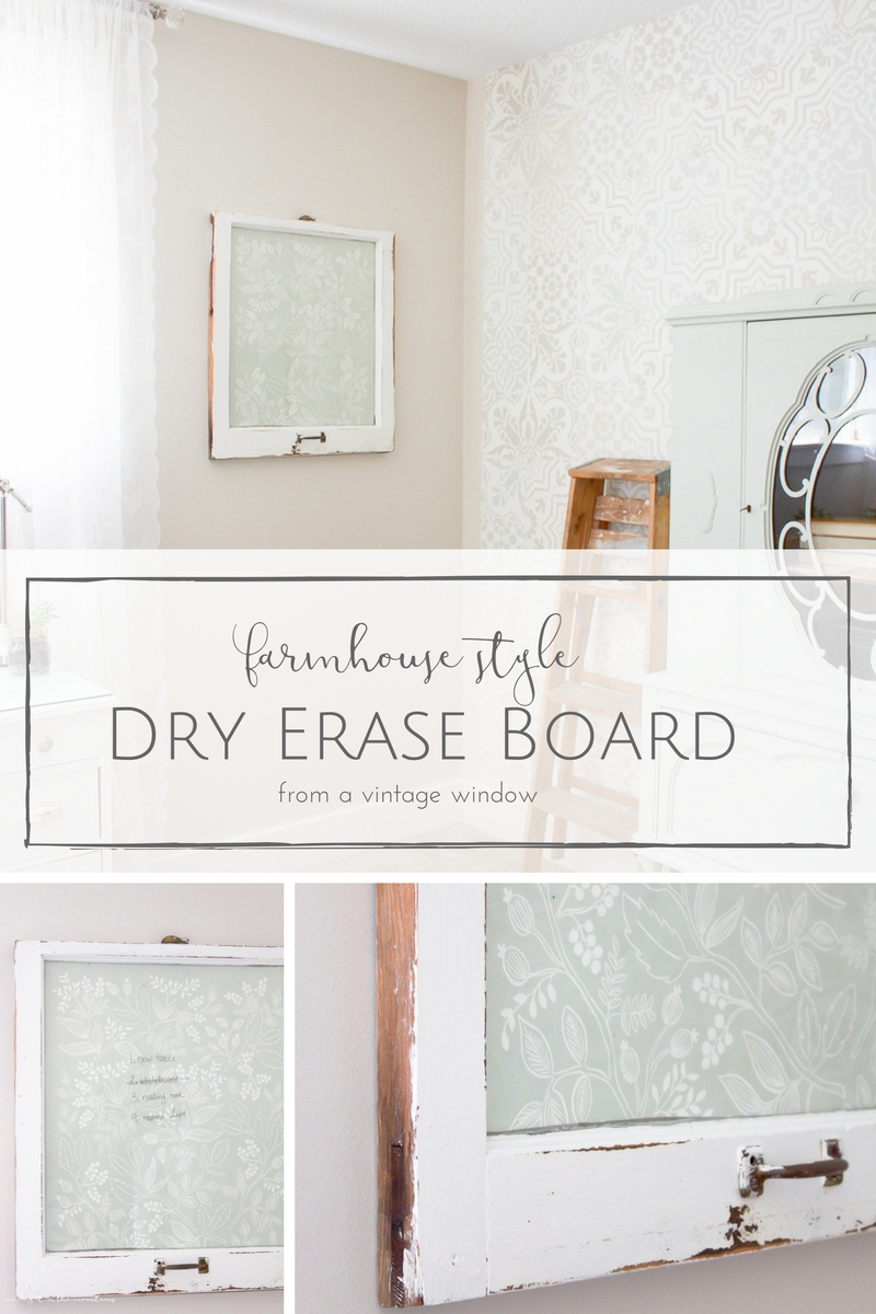 This farmhouse style DIY dry erase board took just seconds to make, but it's such a pretty way to stay organized and on top of things! | www.makingitinthemountains.com