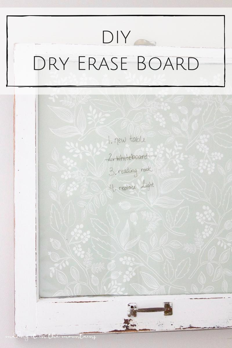 DIY Dry Erase Board