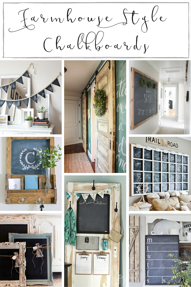 These farmhouse style chalkboard projects are a simple way to bring some rustic, old school charm to any space! | www.makingitinthemountains.com