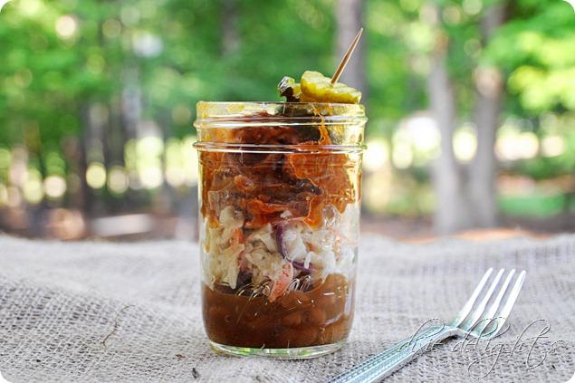 Mason Jar BBQ Sundae Supper