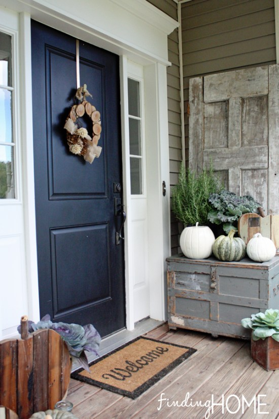 Traditional Exterior Front Porch Design Pictures Remodel Decor And Ideas Soooo Pretty: 10 Cozy Fall Porches With Farmhouse Style
