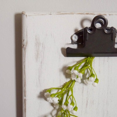Rustic DIY Clipboards