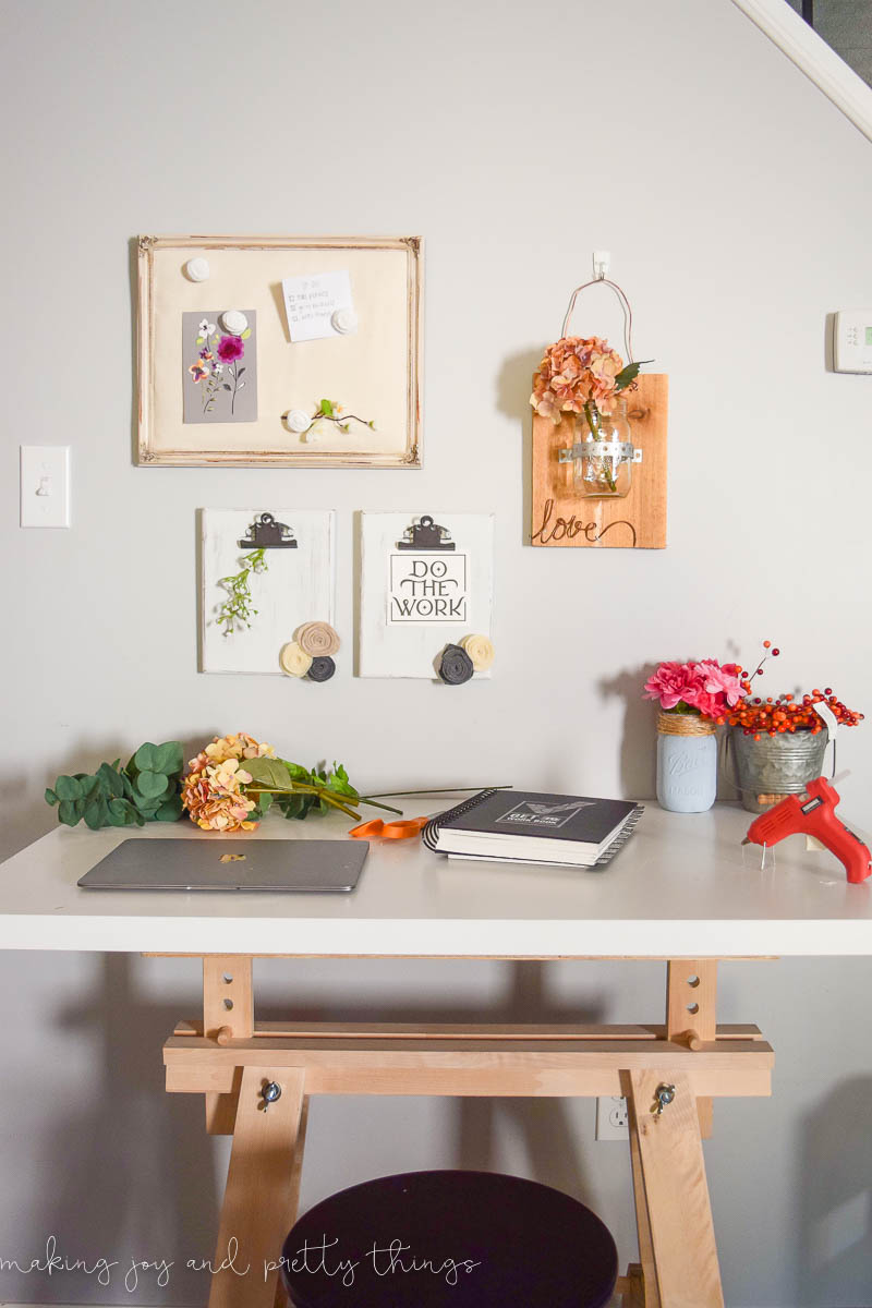 Rustic DIY Clipboards. Easy craft for office or craft organization spaces. Uses scrap wood and chalk paint to give a farmhouse and fixer upper feel.