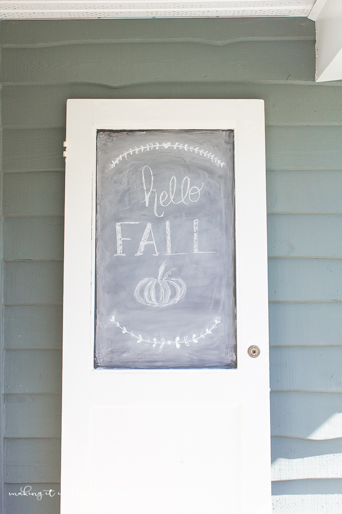 How To Create A Unique Diy Chalkboard From A Vintage Door