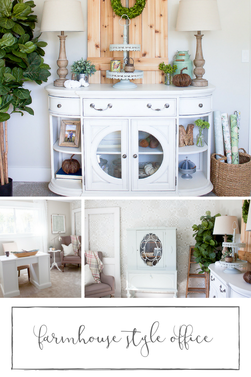 Easy ways to create a unique farmhouse style office space...