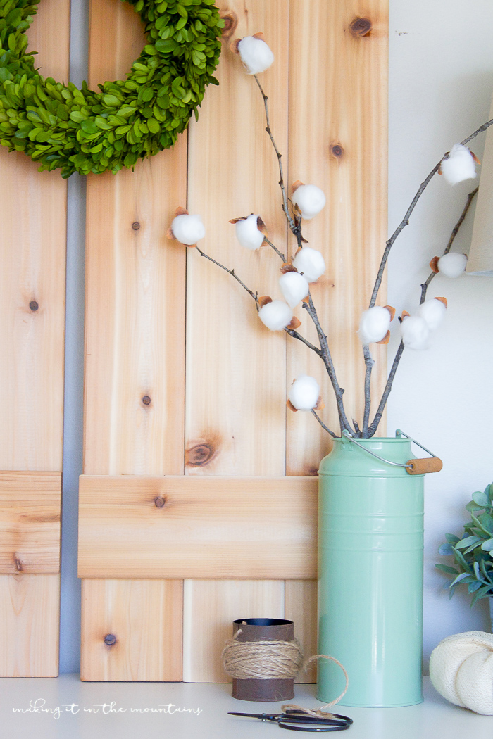 DIY Cotton Stems | www.makingitinthemountains.com