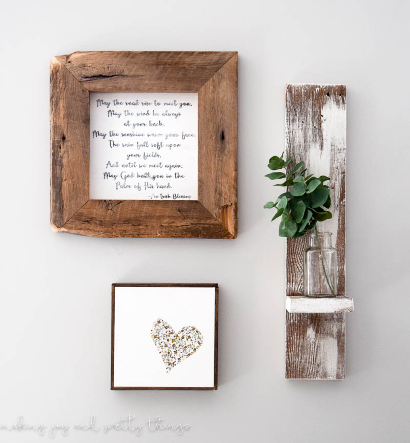 Reclaimed Wood Wall Shelf - making it in the mountains