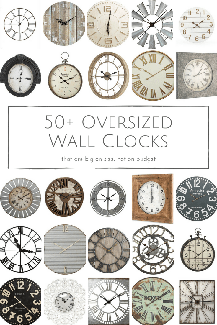 50 Rustic Oversized Wall Clocks That Are Big On Size But