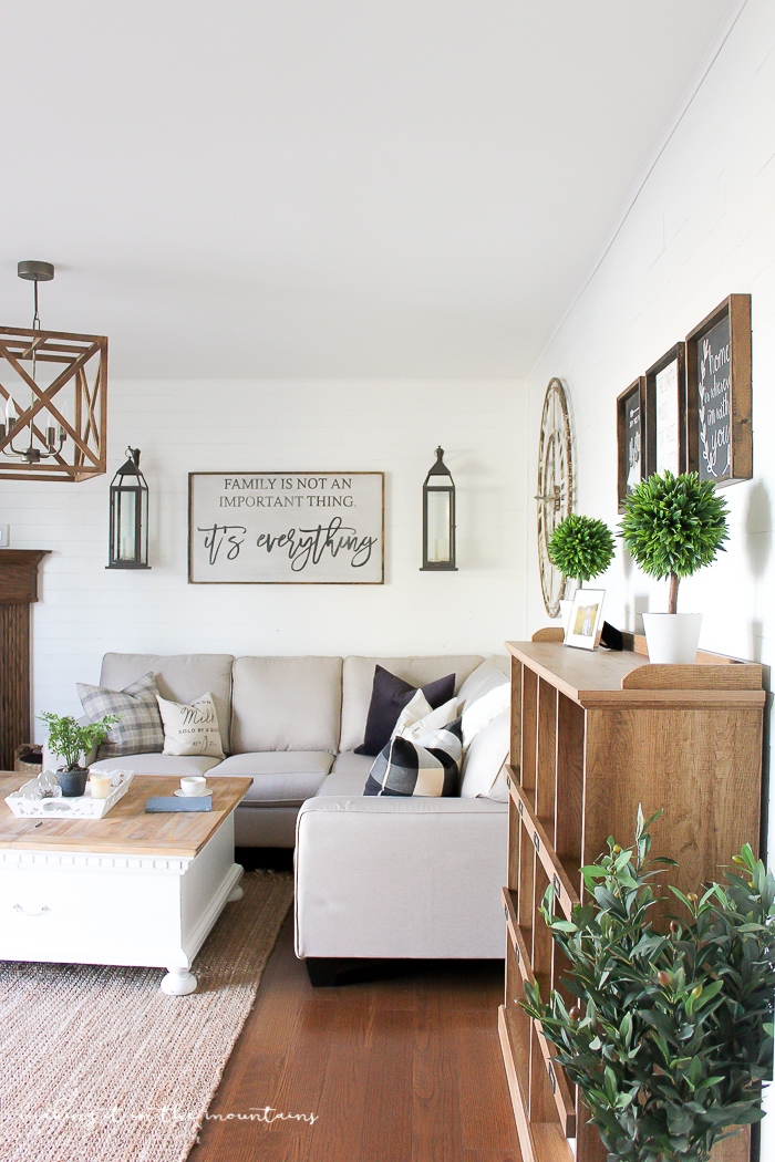 light and bright farmhouse family room
