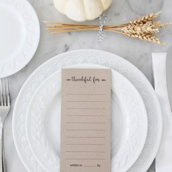 Thankful Printable Placecards