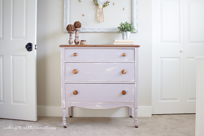 Mauve-less Vintage Dresser Makeover | www.makingitinthemountains.com