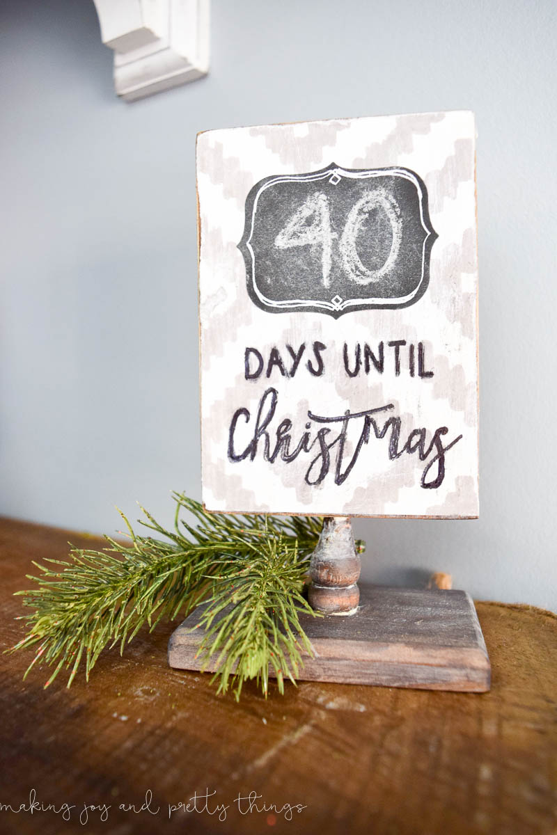 Diy Rustic Christmas Countdown Sign Making It In The