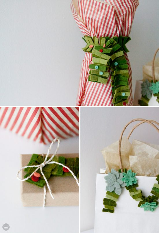 Felt Holiday Gift Wrap