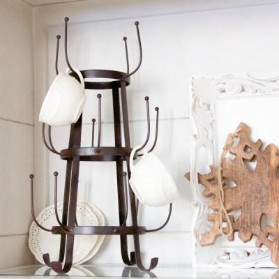 Farmhouse Style Christmas Curio Cabinet