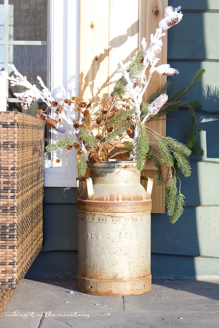 Farmhouse Outdoor Christmas Decorations : Minute decorating outdoor winter porch decor making
