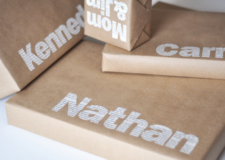 How to Make Typographic Gift Wrap