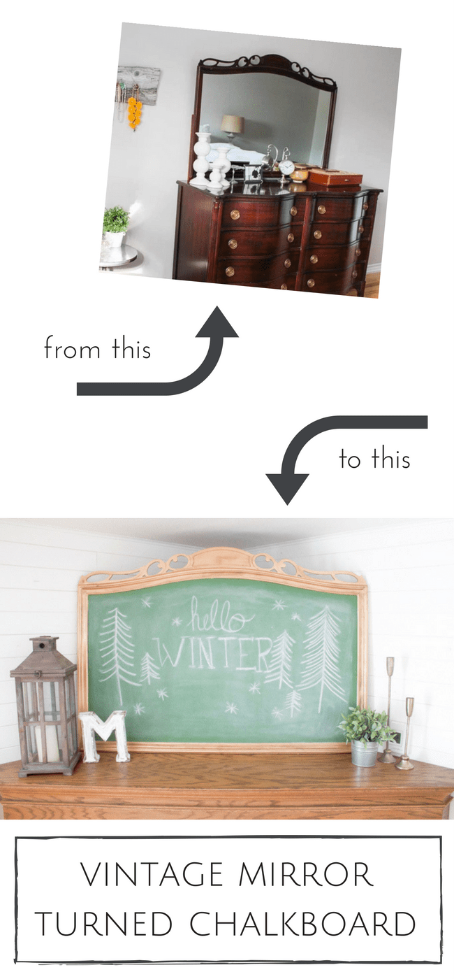 Painting over an old mirror is such a simple and inexpensive way to create a chalkboard with loads of charm and character! | www.makingitinthemountains.com