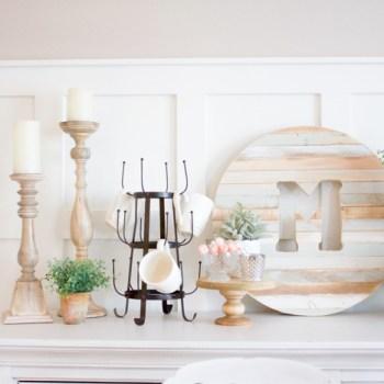DIY Wood Cake Stand | www.makingitinthemountains.com