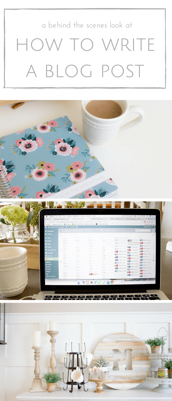 Ever wondered what it takes to put a blog post together from start to finish? Well friends I'm excited to share this behind the scenes look at all of the work that goes in to each and every blog post I share!