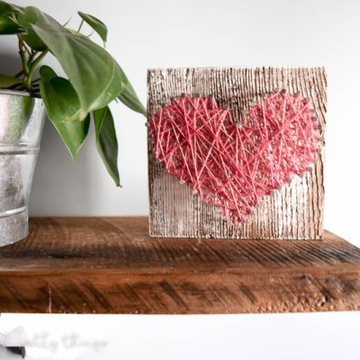 How to Make your own Rustic Barn Wood String Art Heart