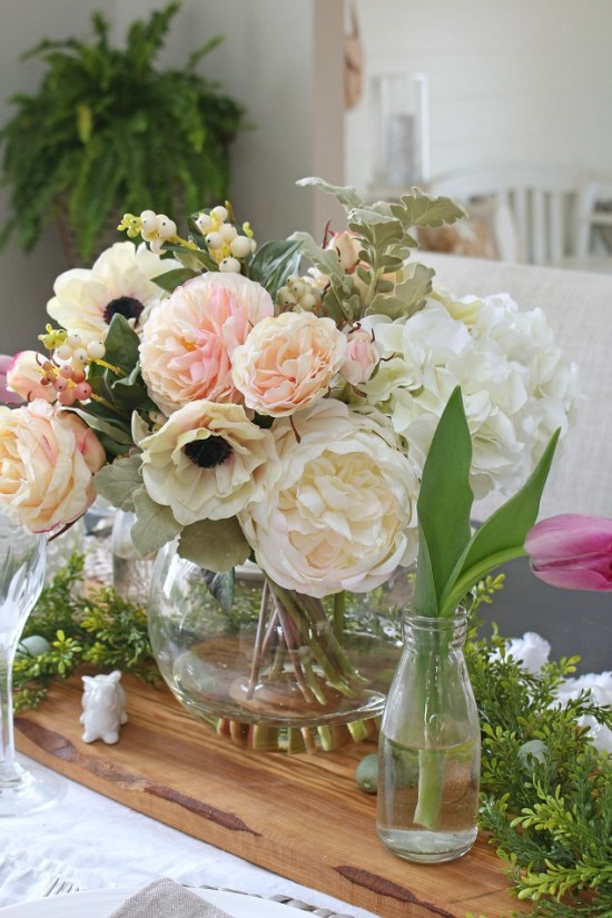 Decorating with Faux Flowers